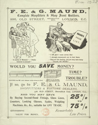 Advert For F., E. & G. Maund, Shopfitters